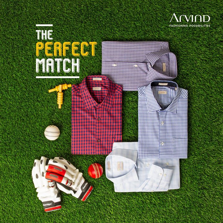 Gear up and cheer on for India's first match at the #ICCWorldCup in the perfect attire only by Arvind.  #ArvindFashioningPossibilities #Cricket #ReadyToWear #checkshirt #worldcup #INDvSA #BleedBlue #IndiavsSouthAfrica #SAvIND #TeamIndia