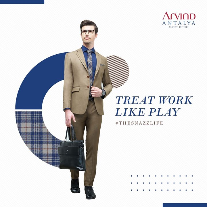 Don't dress to impress, dress to express your dapper nature and live up #TheSnazzLife only in Arvind's Antalya Range  #ArvindFashioningPossibilities #menswear #mensuits #menstyle #Antalya