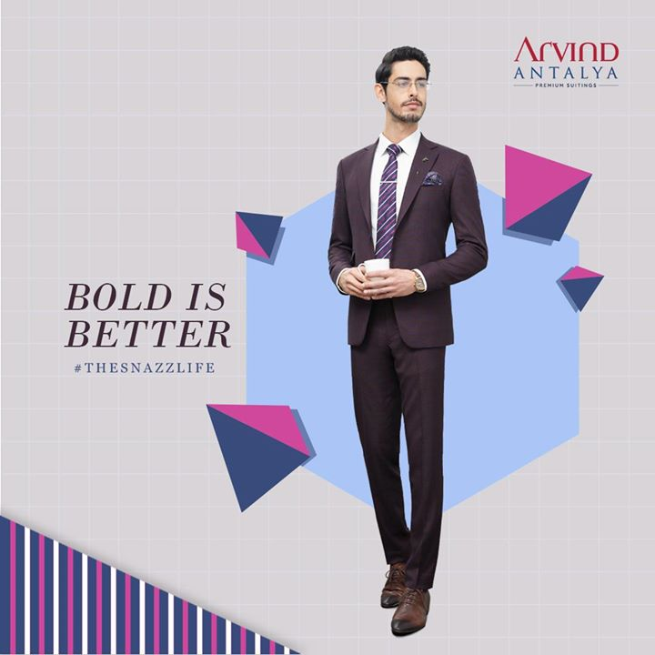 #TheSnazzLife is all about being bold. Wouldn't you agree?  #ArvindFashioningPossibilities #menswear #mensuits #menstyle #Antalya