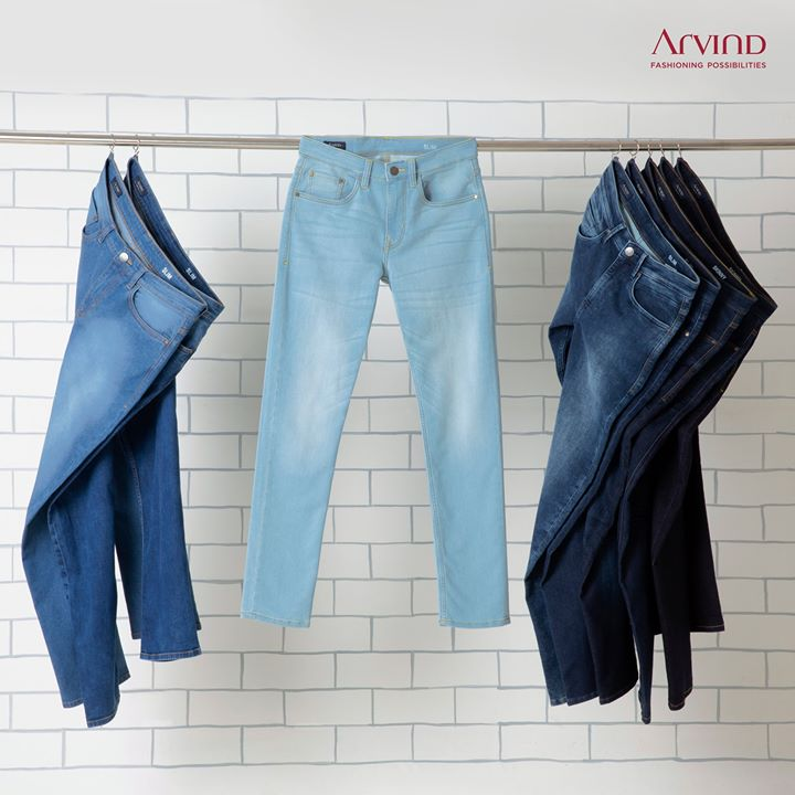 Comfy denims all day, all night is what we live for!  Get yourself Arvind Denims to match all your moods.  #ArvindFashioningPossibilities #denim #jeans