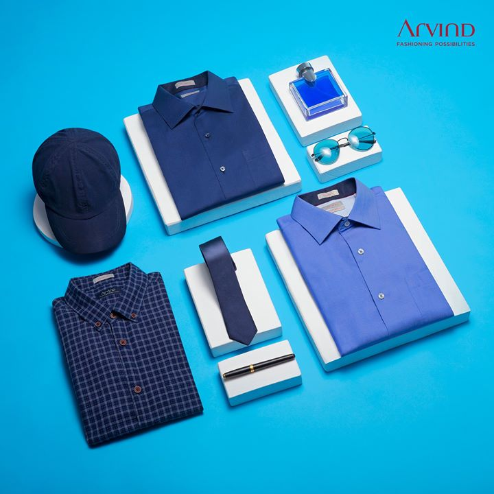 Beautiful in blue is what you will be once you check out our collection of royal blue shirts and trousers.   #ArvindFashioningPossibilities  #ReadyToWear #workwear #workstyle #workfashion