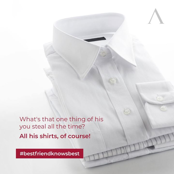 Happy Friendship Day! It is no secret, that friendships are a beautiful combination of all those stolen moments and clothing. Let us help you immortalise your admirable imperfect bond, with our perfectly tailored shirts. Anyway, what's yours is his, always.  And remember #bestfriendknowsbest, and we at Arvind celebrate that sentiment.  #HappyFriendshipDay #menstrend #flatlayoftheday #menswearclothing #gentlemenfashion #welldressedmen #guystyle #luxurylifestyles #ootdman #malestyle #mensclothes #everydaymadewell #fashioninstagram #menswithstyle #mensfashiontips #smartcasual #flatlayforever #dressforsuccess #menswearstyle #itsaboutdetail #whowhatwearing #bespoketailoring #classicmenswear #thearvindstore #staytruestaynew #readytowear #madeinarvind