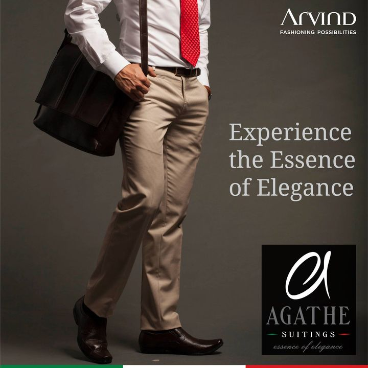 Choose the perfect fabric for your trousers, tailored to fit you just as perfectly. Ultra fine terry rayon, polyviscose and premium stretchable cotton fabrics are the preferred choice in a tropical clime such as ours. It's comfortable, elegant and trendy. So flaunt your pair of elegant trousers with the right fabric from Agathe by Arvind. . . . #ADfashion #ArvindFashion #TheArvindStore #Agathe #AgatheSuitings #ArvindFashioningPosibilities #LifestyleSuitingFabrics #suitingcollection #formals #Menswear #MensFashion #Fashion #style #comfortable #classicmenswear #texturedfabrics #firstimpressions #dressforsuccess #StayStylish