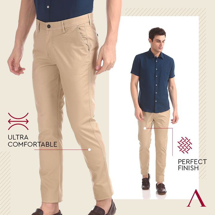 Trousers that are made to perfection with comfort as the topmost focus. Click here - http://bit.ly/2s5KOsV And get your comfortable pair of trousers today! . . #menstrend #flatlayoftheday #menswearclothing #guystyle #gentlemenfashion #premiumclothing #mensclothes #everydaymadewell #smartcasual #fashioninstagram #dressforsuccess #itsaboutdetail #whowhatwearing #thearvindstore #classicmenswear #mensfashion #malestyle #authentic #arvind #menswear #ReadyToWear #ClothingThatComforts #MadeByArvind #NoWrinkle #WrinkleFree #stretch #superstretch #uvresistant