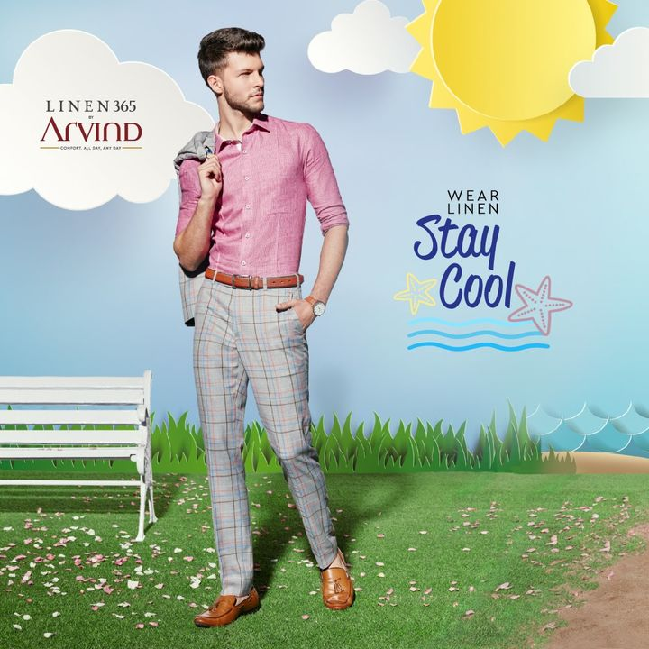 Looks Cool. Keeps Cool. #Linen365    #Arvind #Linen  #Fashion #Style #StyleUpNow
