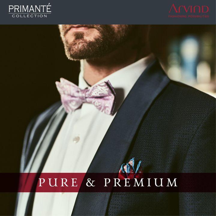 It takes pure craftsmanship to design something great.  #Arvind #Primante #Pure #Premium #Suits #Suave