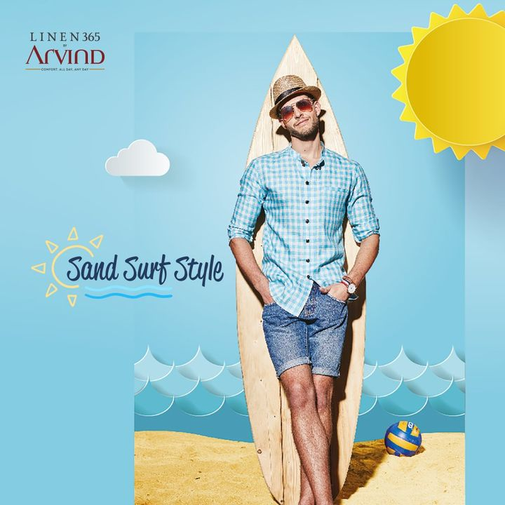 Missing the beach? Get the beach look at home with #Linen365  #Arvind #Menswear #Linen  #Sunday #Style #LinenLook #WeekendVibes