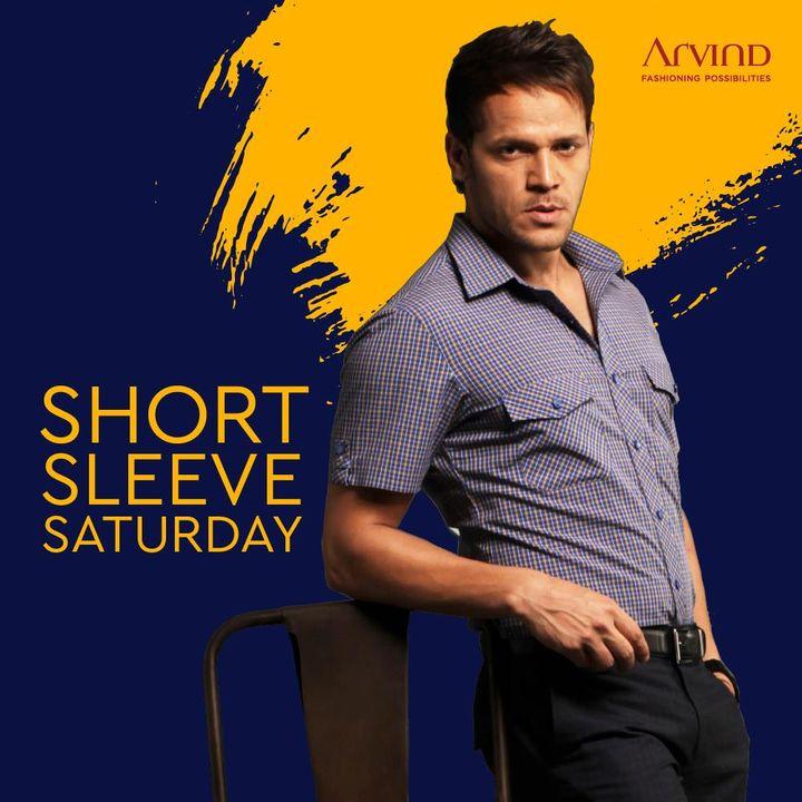 Sleeve Short. Style High.  #Arvind #ShortSleeveSaturday #StyleUpNow #Dapper #WeekendVibes #FashioningPossibilities
