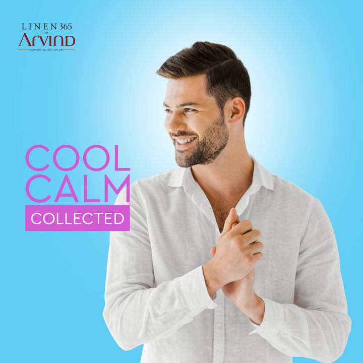 Linen keeps you cool.  #Arvind #Menswear #Linen365  #Fabrics #TrendyTuesday #Style #LinenLook