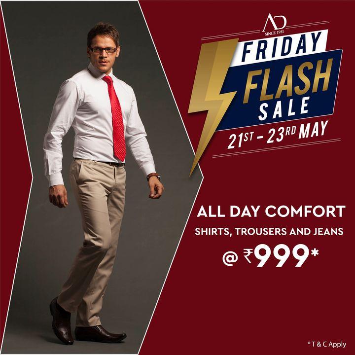 The Arvind Store,  OfferAlert, FridayFlashSale, Arvind, ADbyArvind, Menswear, Dapper, Fashion, Style, StyleUpNow, YayFriday, FashioningPossibilities