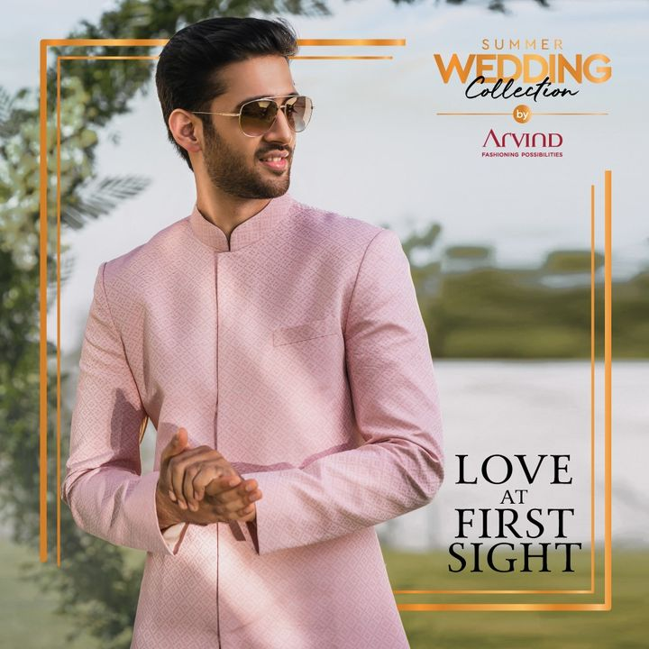 The Summer Wedding Collection has fabrics you will fall in love with!  Please take all the precautions. Stay safe & celebrate.   #Arvind #Summer #WeddingCollection  #Fabrics #Fashion #Style #Dapper  #StyleUpNow #FashioningPossibilities