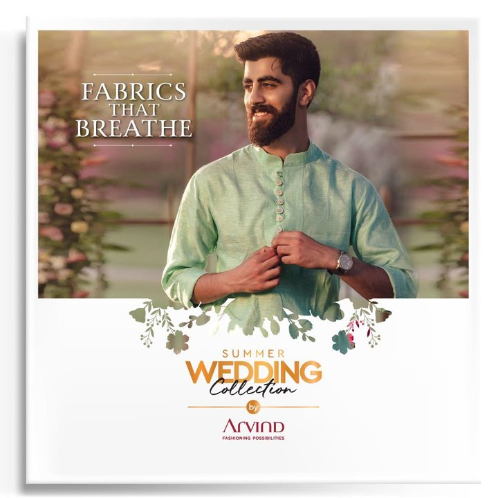 The summer heat should never come in the way of your celebration.  Please take all the precautions. Stay safe & celebrate.  #Arvind #Summer #WeddingCollection #Fabrics  #Fashion #Style #StyleUpNow  #Linen #LinenLook #GizaCotton #FashioningPossibilities