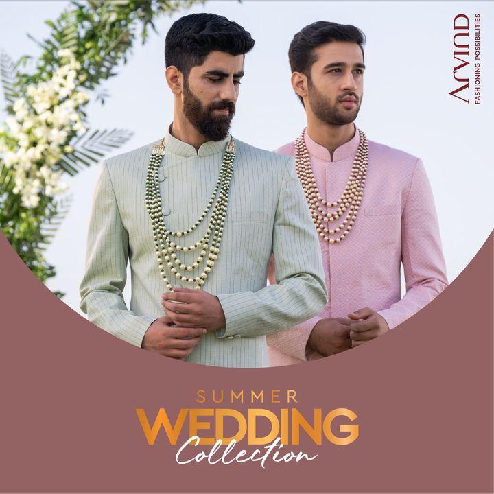 Elegant fabrics for elegant occasions.   #Arvind #Summer #WeddingCollection #Fabrics #Fashion #Style  #StyleUpNow #Dapper #FashioningPossibilities