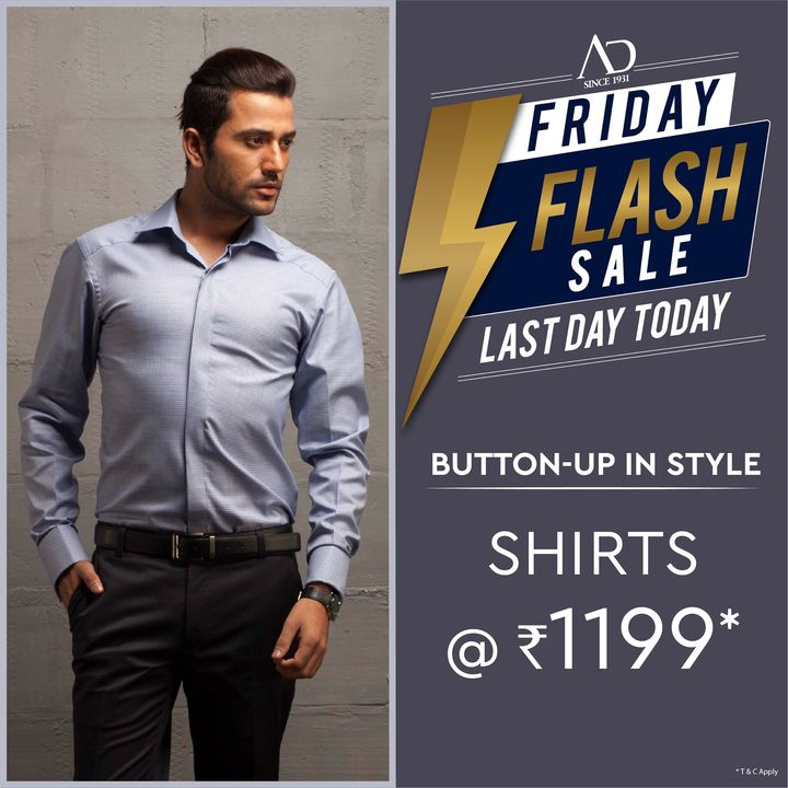 Choose from a fine collection of formal, semi-formal & casual shirts from AD. Hurry, last day today! Shop now at arvind.nnnow.com  #Arvind #ADbyArvind #Menswear  #Fashion #Style #StyleUpNow #Dapper #FashioningPossibilities