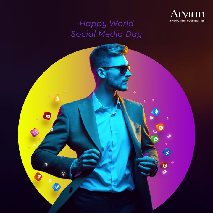 We thank all our followers and customers on the World Social Media Day. Have a happy one!  #Arvind #Menswear #WorldSocialMediaDay #Happiness #Love #Peace #FashioningPossibilities