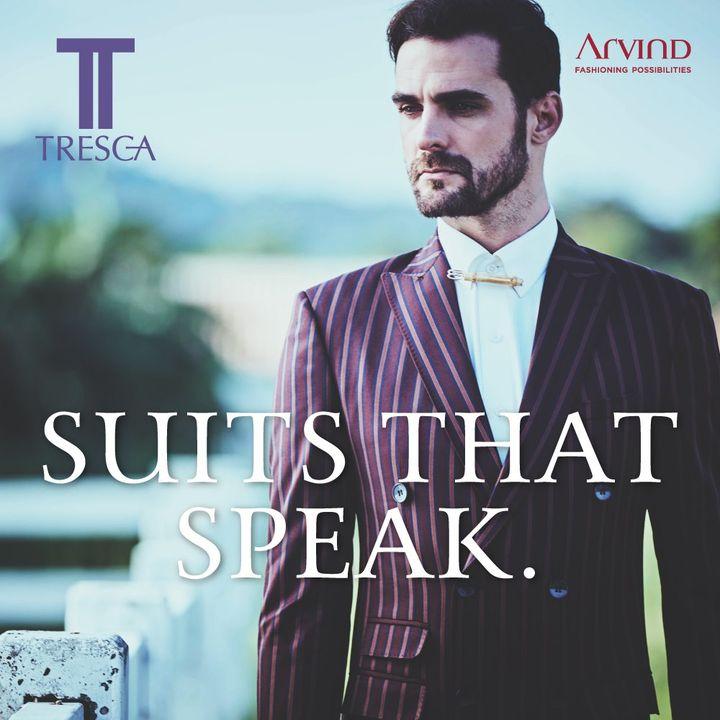Make a statement without saying a word.  #Arvind #Tresca #Menswear #Dapper #Fashion #Style  #Suits #Suave #StyleUpNow  #Dapper #WowWednesday #FashioningPossibilities