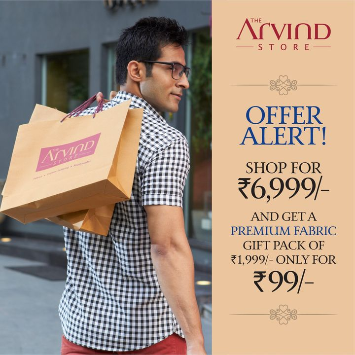 Hop over and grab this offer at #TheArvindStore   We take all the safety precautions.  #Arvind #Menswear #StyleUpNow #Style #Dapper #StaySafe #StayClassy  #FridayFashion #YayFriday #FashioningPossibilities