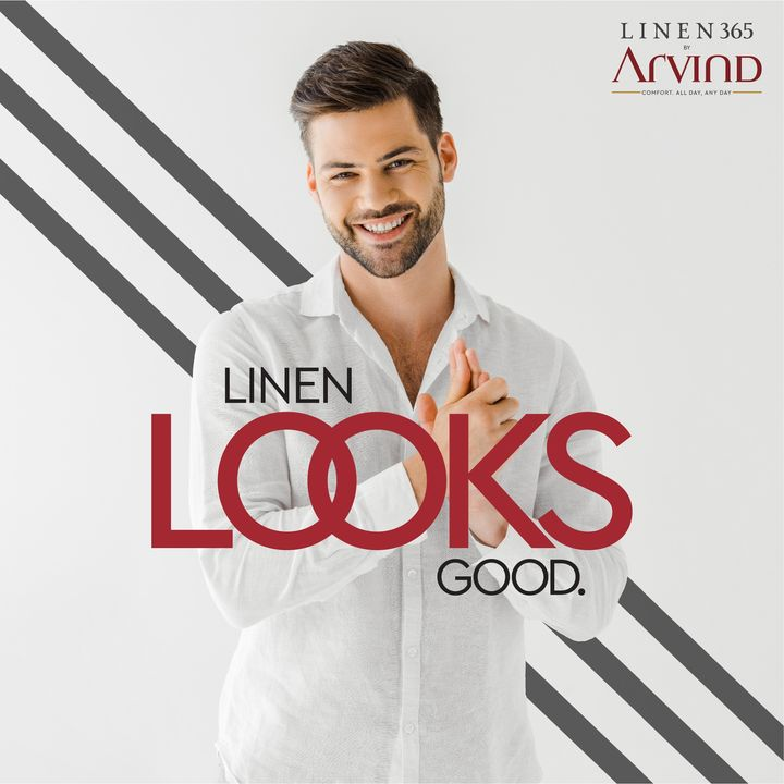 It feels good too!  #Arvind #Linen365 #LinenLife #Fashion #Sunday #Style #WeekendVibes #FashioningPossibilities