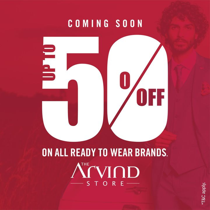 #OfferAlert #ComingSoon Get ready to shop more at The Arvind Store.  We take all the safety precautions.  #Arvind #TheArvindStore #Sale  #ReadyToWear #Menswear  #StyleUpNow #StaySafe  #StayClassy #Dapper #FashioningPossibilities