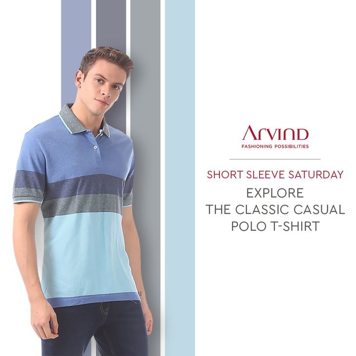 The Arvind Store,  ADbyArvind, FashioningPossibilities, ShortSleevesSaturday, Saturday, ReadyToWear, Menswear, StayStylish, PoloTshirt, ClassicCasual