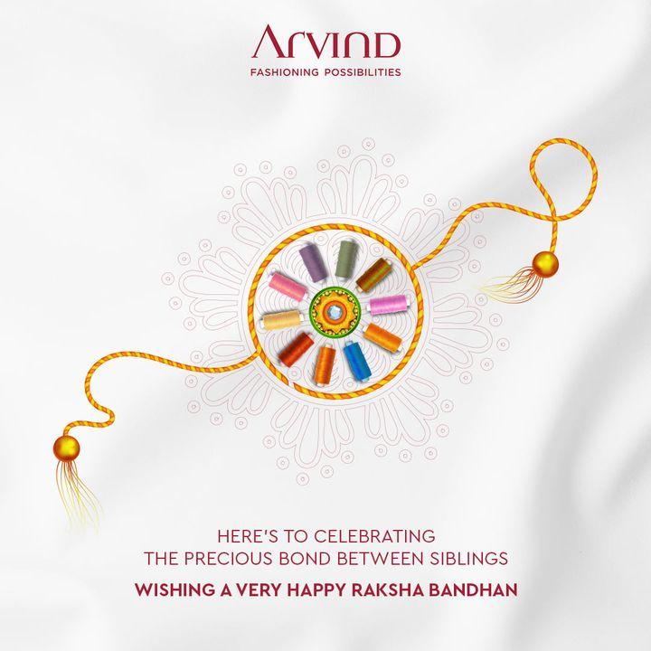 Wishing a very Happy Raksha Bandhan  #HappyRakhshabandhan #Rakhi2021 #Rakshabandhan2021 #BrotherSister #SisterLove #BrotherLove #BondofForeverLove #ThreadofForeverLove #HappyRakhi #Arvind #ArvindMensWear #FashioningPossibilities
