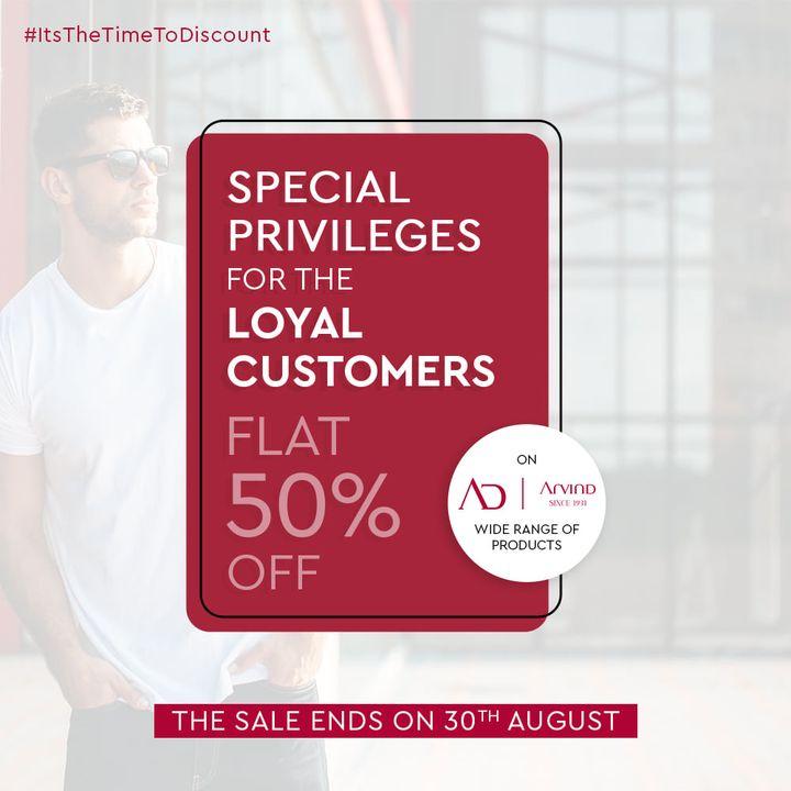 The Arvind Store,  AwesomeAugust, Discount, DiscountThatCounts, LoyaltyDiscount, ItstheTimeToDiscount, DiscountsForYou, Arvind, TheArvindStore, Sale, LoyaltyReward, ReadyToWear, Menswear, StyleUpYourWardrobe, FashioningPossibilities