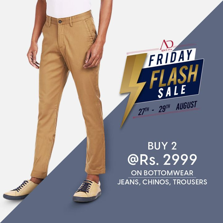 Passionate about your style & love shopping?  Season's trendiest apparels are now available on the Friday Flash Sale. Don't miss out!  Click to make them all yours: https://arvind.nnnow.com/arvind2999  #ADbyArvind #Arvind #ArvindMensWear #FashioningPossibilities #FridayFlashSale #Sale #ReadyToWear #Menswear #StayStylish #OfferAlert #LoveForShopping #ShopTillYouDrop