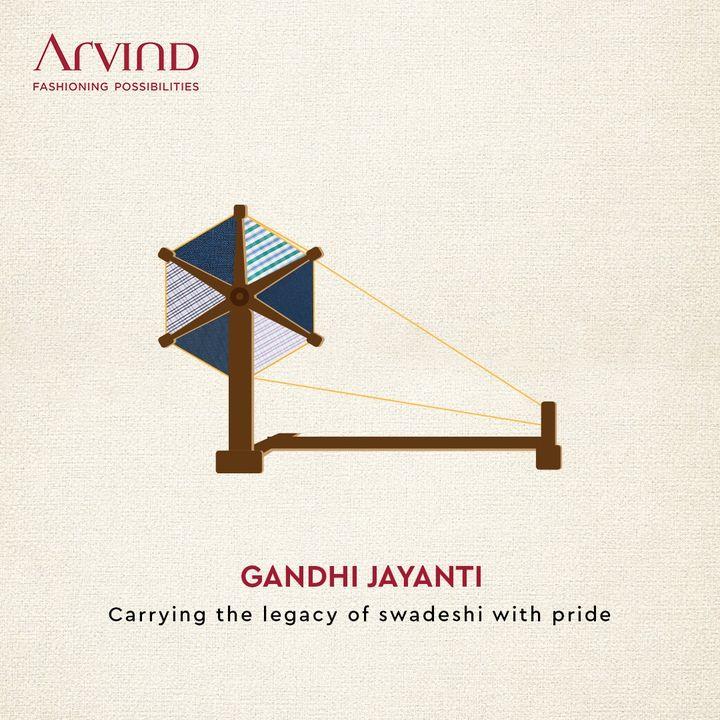 Paying tribute to father of the nation!  #MahatmaGandhi #HappyGandhiJayanti #GandhiJayanti2021 #Bapu #FatherOfNation #Arvind #ArvindMensWear #FashioningPossibilities