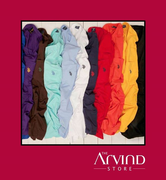 The #Riot of #Colors! Which color would you want to #Sport for the upcoming #Winters?  #Fashion #Men #USPA #ArvindStore