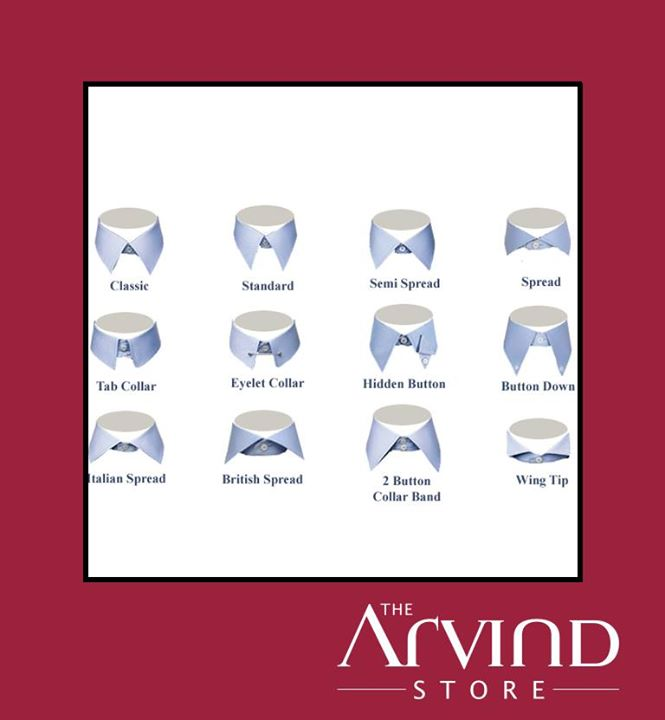Did you know, your #Shirt Collars can be #Customized too!  #Fashion #Men #Customization #ArvindStore #TAS