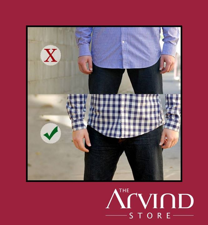 #Style Q & A: How long should the front be of an untucked #button up #shirt?  The most versatile button up shirt can be worn both tucked in and untucked.  The quick and easy answer is that it should be the same length as the back of your shirt which should fall no lower than the bottom of your back pocket.