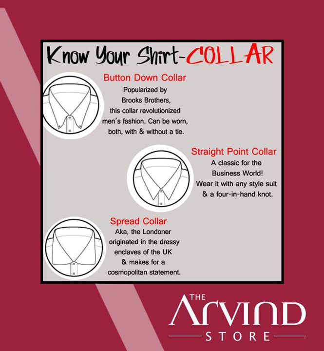 #StyleGuide : Know your #shirt #collar!  #TAS #TheArvindStore #Fashion #Men