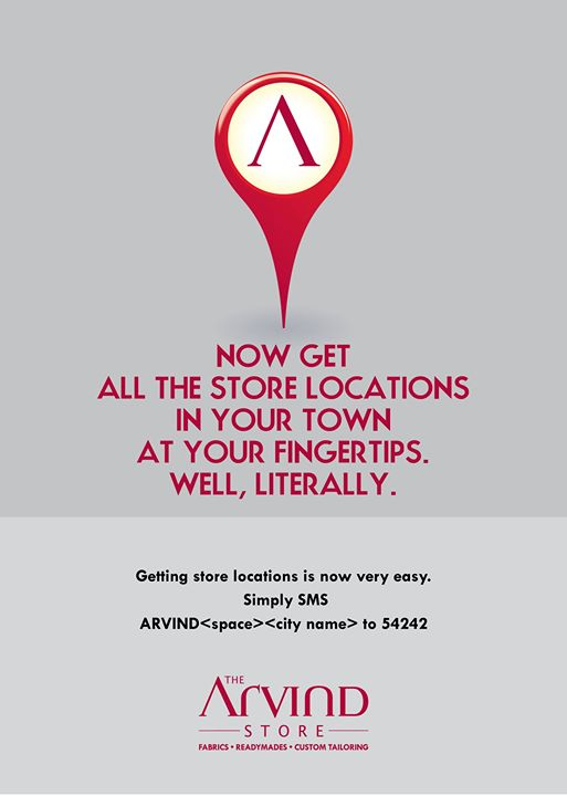 #Store locations at your #fingertips!   #Fashion #TAS #TheArvindStore