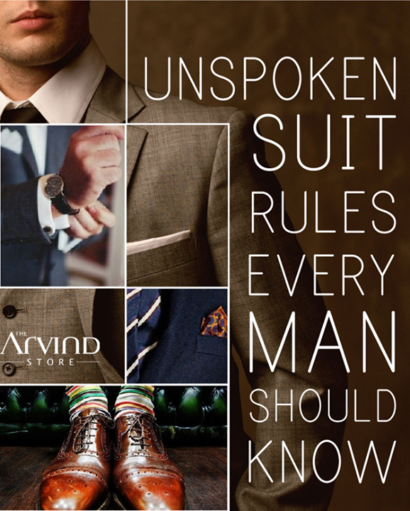 The Arvind Store brings to you a series of #SuitRules that you should know!
