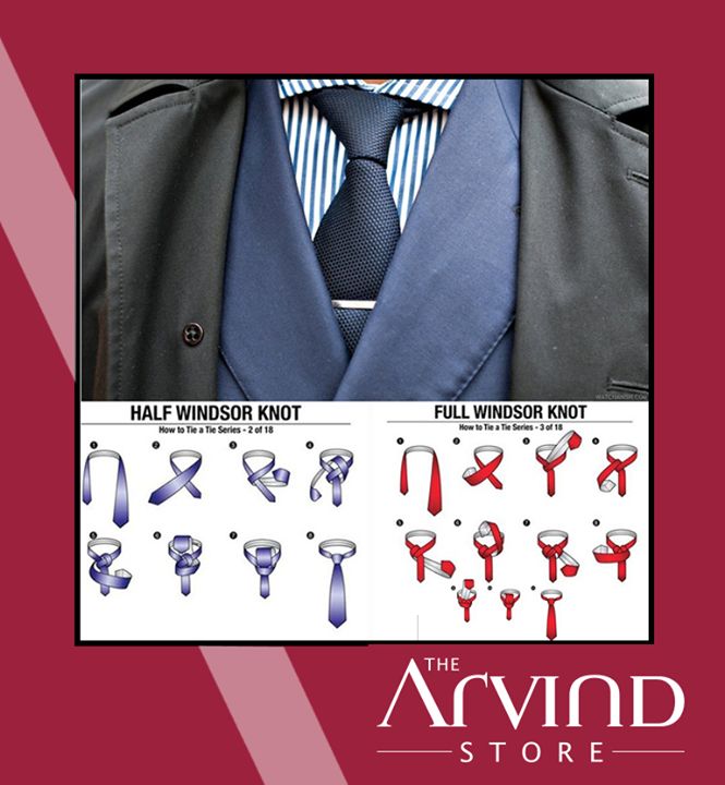 #SuitRule4 -   Always go with the classic Windsor knot for your tie, but use the size of your head to determine whether you should go half or full Windsor.  #TAS #Fashion #TheArvindStore