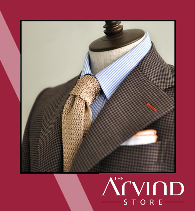 Love the color #Orange? Get it embedded in your suit!   #AttentionToDetail #TAS #TheArvindStore