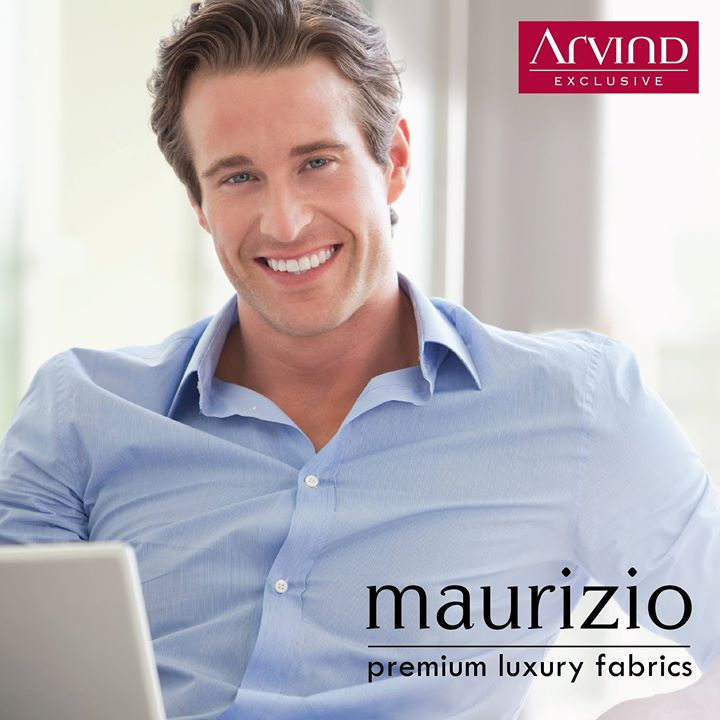A unique story of expression of #elegance and #luxury.  #Maurizio #TheArvindStore #LuxuryFabrics