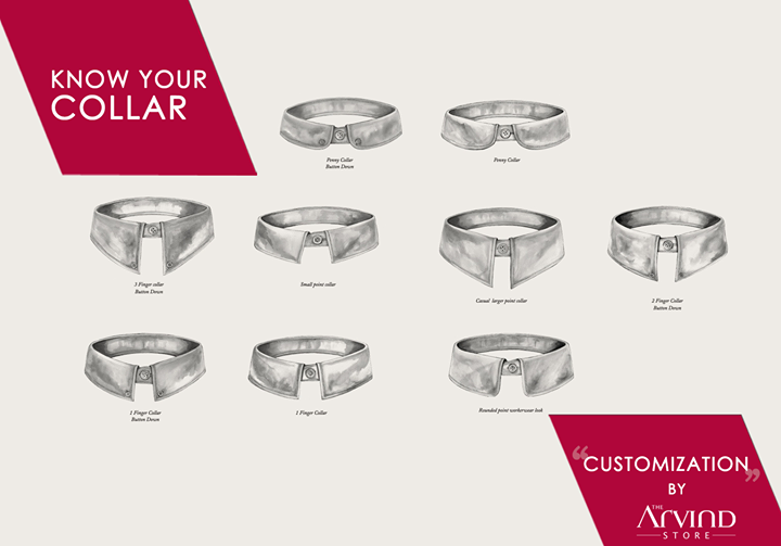 Your #Collars, the way you like them!  #Customization #TheArvindStore #MensFashion