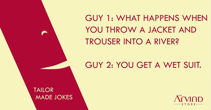 Laugh it out folks!  #TailorMadeJokes #TAS #MensFashion