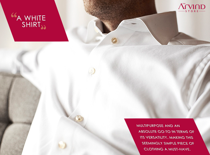 Is a #WhiteShirt the favorite piece of your #wardrobe?  #MensFashion #TheArvindStore #TAS