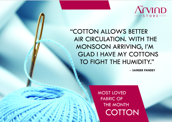 #Cotton's the best suited #fabric for the #season!   #MensFashion #TheArvindStore #TAS