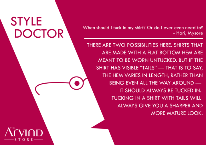 The #StyleDoctor from #TheArvindStore !