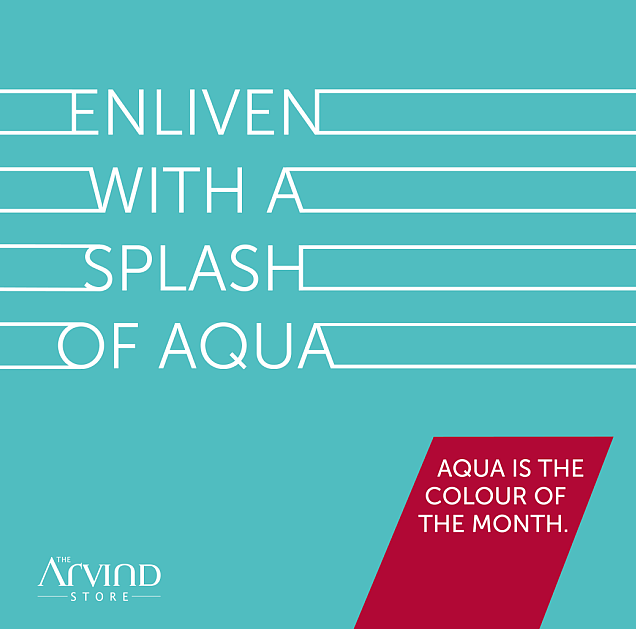 #ColorOfthemonth #Aqua #MensFashion #TheArvindStore