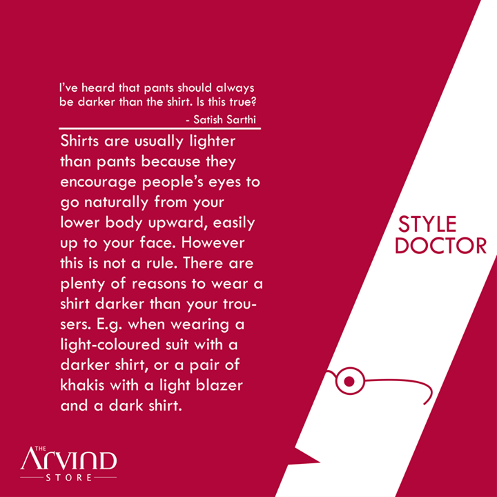 The #StyleDoctor is here to clear your style doubts.  #MensFashion #TAS #TheArvindStore