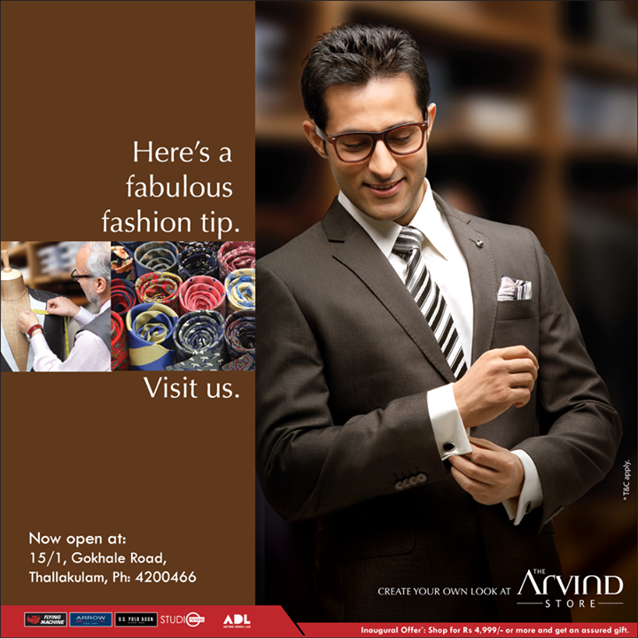 Visit us at the newest Fashion destination in town!   #TheArvindStore now open at Thallakulam!