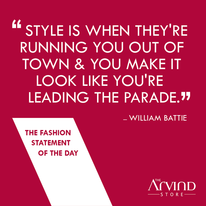 What is #Style according to you?  #Fashion #MensFashion #Trends #TheArvindStore