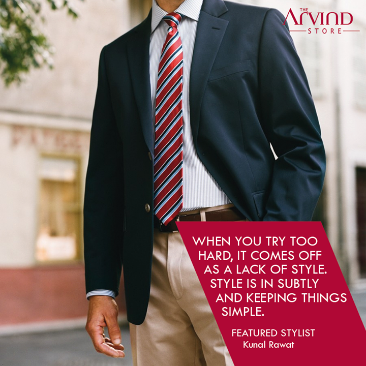 The Arvind Store,  Simple!, FeaturedStylist, TheArvindStore, MensFashion, Fashion, India