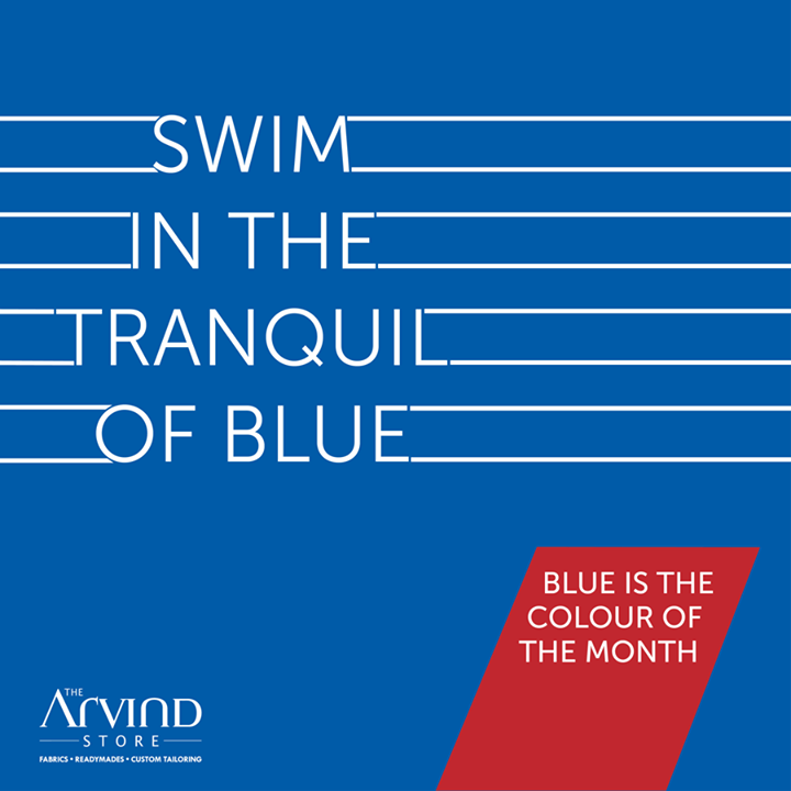 The Arvind Store,  ColorOfTheMonth, Arvind, TheArvindStore, MensFashion, Blue