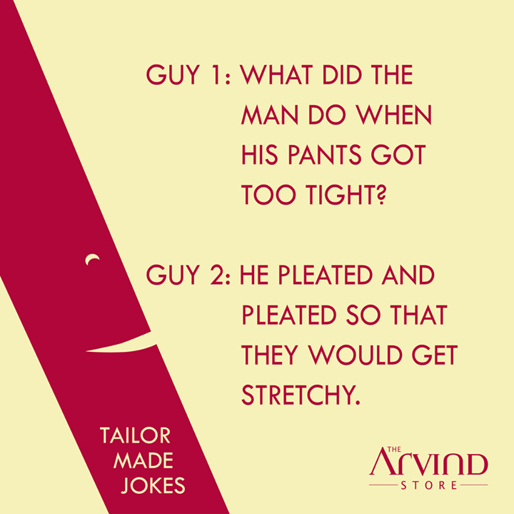 Laugh it out!   #TailormadeJokes #TheArvindStore #MensFashion #TAS #Weekend