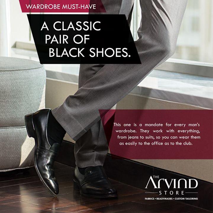 The Arvind Store,  Classic, BlackShoes, wardrobe., WardrobeMustHave, MensFashion, TheArvindStore, TAS